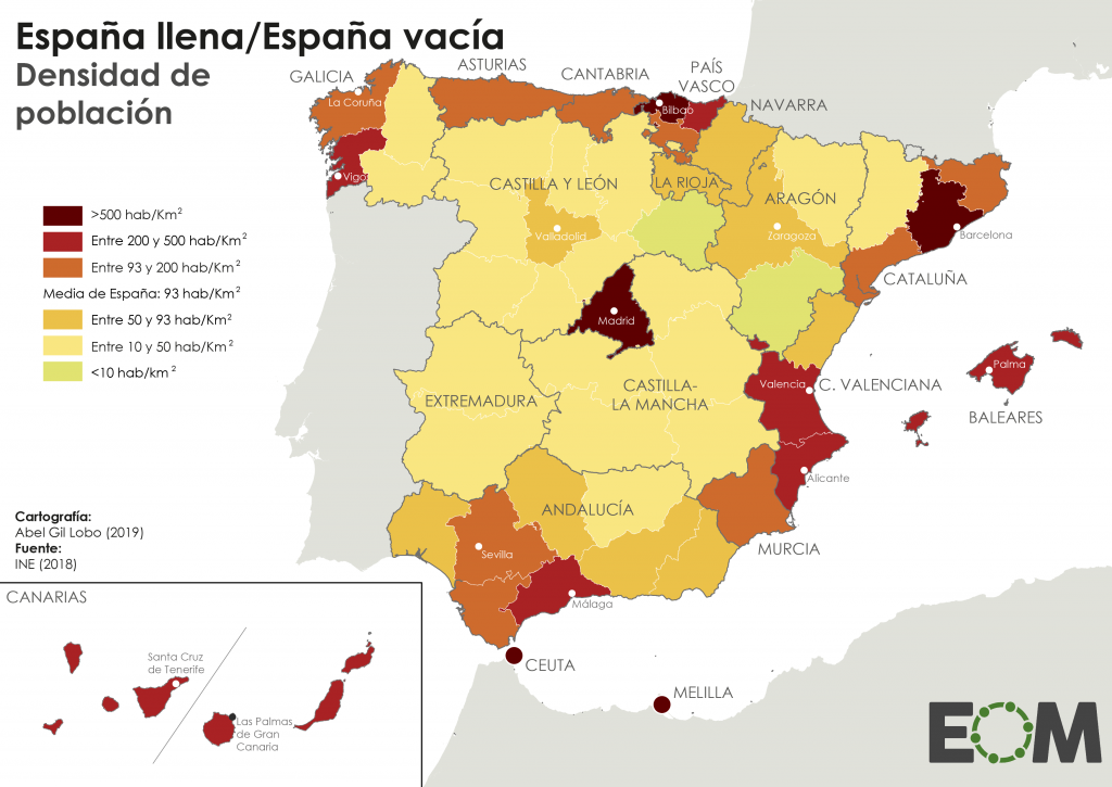 densidad población españa